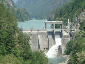 Diablo Dam in Washington State